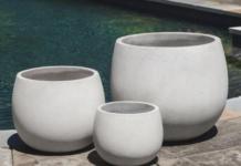 pot minimalis dari beton